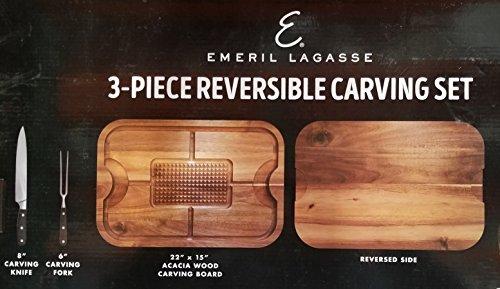 Emeril Lagasse 3 piece Reversible Carving Set