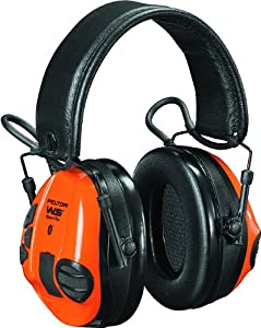 4. 3M Peltor WS Tactical Sports Communications Headset, 20 dB Noise Reduction (Orange & Green)