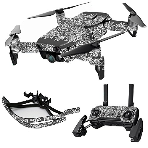 MightySkins Skin for DJI Max Coverage - Floral Lace | Protective, Durable, and Unique Vinyl Decal wrap Cover | Easy to Apply, Remove, and Change Styles | Made in The USA
