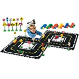 Constructive Playthings CPX-707 Road Builders Combo Play Set for Kids