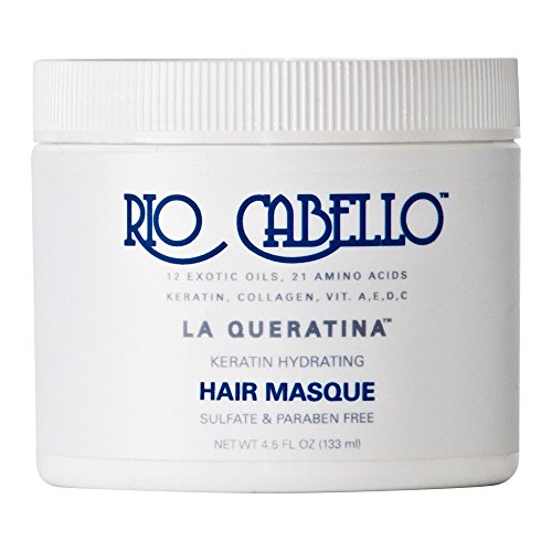 (Rio Cabello - Keratin Hydrating Hair Mask - Argan, Coconut, + 10 More Exotic Oils (4.5 oz))