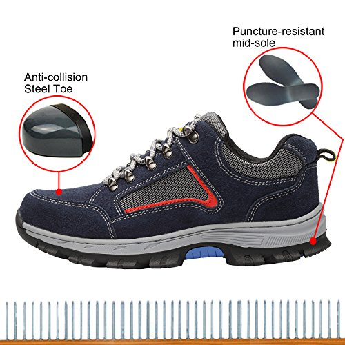 Shoes Toe Shoes Safety Optimal Work Blue Men's Blue Steel Shoes wE0qY