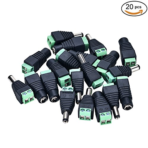 10pcs 2.1x5.5mm Male Jack DC Power Adapter Connectors Plugs for CCTV Camera - 5