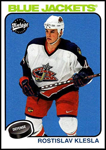 2001-02 Upper Deck Vintage #75 Rostislav Klesla NM-MT Columbus Blue Jackets Official NHL Hockey Card (Vintage Deck Jacket)