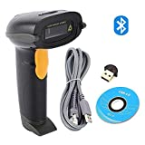 NATAMO 1D Bluetooth Wireless Barcode Scanner Supports Windows Android iOS Mac OS and Portable Handheld Cordless Barcode Reader Bar Code Scanner Work with iPad iPhone Android Phone Tablet Computer
