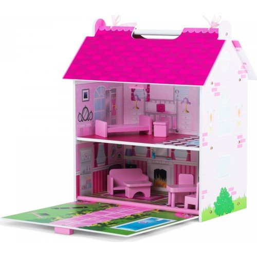 Serra Baby Educational Wooden Portable Pink Dream House by Serra Baby