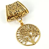 Scarf Jewelry - Antique Gold Tree of Life Scarf Pendant
