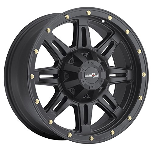 Vision 400 - Incline 18x9 5x127 0et Matte Black Wheels Rims by Vision