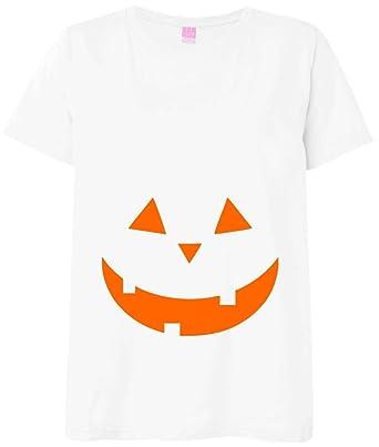 Pumpkin Maternity Shirts - White Shirt With Halloween Pumpkin at ...