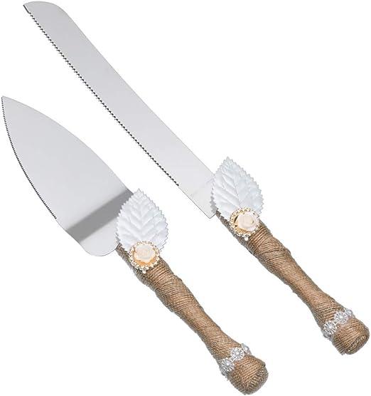 Amazon Com Rustic Wedding Cake Knife And Server Set Pizza Pie