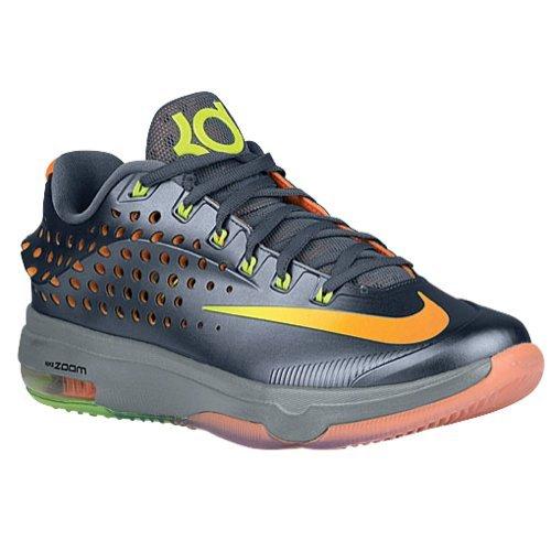 Nike Mens KD VII Elite Blue Graphite/Volt-Bright Citrus-Dove Grey Synthetic Size 11