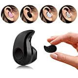 LAPOND Newest Smallest Wireless Invisible Bluetooth Mini Earphone Earbud Headset Headphone Support Hands-free Calling For iPhone Samsung Xiaomi Sony Lenovo HTC LG and Most Smartphone (Black)