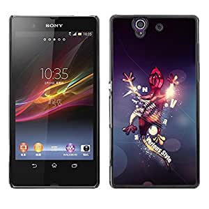 Be Good Phone Accessory // Dura Cáscara cubierta Protectora Caso Carcasa Funda de Protección para Sony Xperia Z L36H C6602 C6603 C6606 C6616 // Abstract Gecko Lizard
