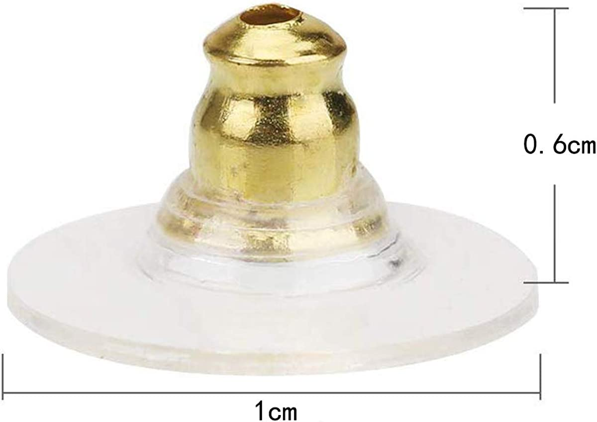 Fermagli per orecchini in plastica anallergica 100 pezzi