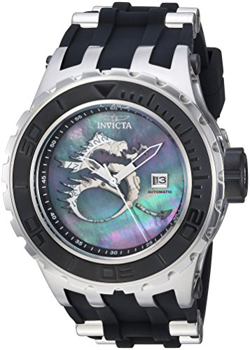 Invicta Men's Subaqua Stainless Steel Automatic-self-Wind Watch with Silicone Strap, Two Tone, 30 (Model: 25029)