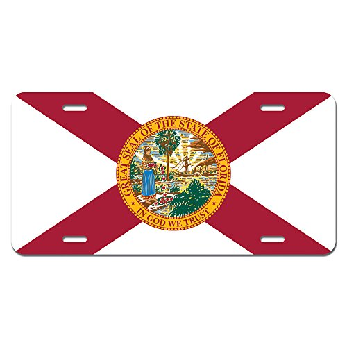 Florida State Flag Novelty Metal Vanity License Tag Plate