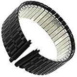 16-21mm Speidel Twist-O-Flex Black Ion Durable Coating Stainless Watch Band 1366