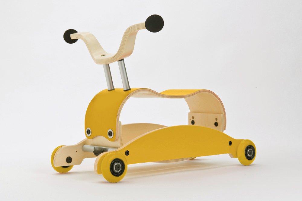 Rutschauto Holz - WISHBONE mini FLIP Gelb