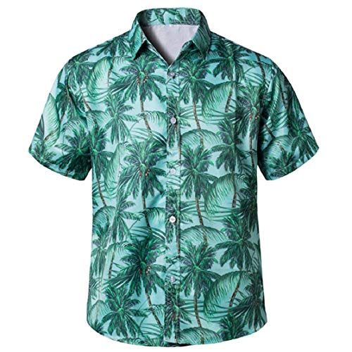 Summer Shirts Couple Matching Tops Hawaiian Floral Short-Sleeve Button Down Casual Slim-Fit Beach Polo Shirt Gifts - Hawaiian Shirt Aloha Chocolate