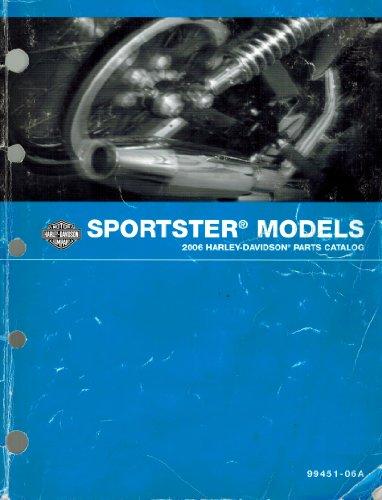 Harley Parts Catalog - 2006 Harley-Davidson Sportster Models Parts Catalog, Part Number 99451-06A