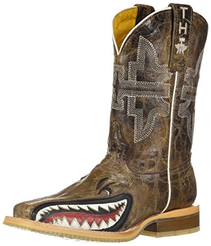 Image of Tin Haul Shoes Boys' Sharky Western Boot, Tan, 2 Medium US Little Kid
