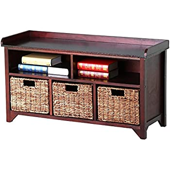 Amazon Com Winsome Wood Milanwood Storage Bench In