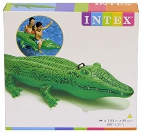 by Pricep Intex Gator Large Inflatable cocodrilo Swimming ...