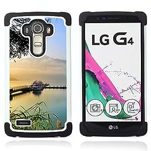 For LG G4 H815 H810 F500L - sailboat boat ship lake mountains Dual Layer caso de Shell HUELGA Impacto pata de cabra con im??genes gr??ficas Steam - Funny Shop -