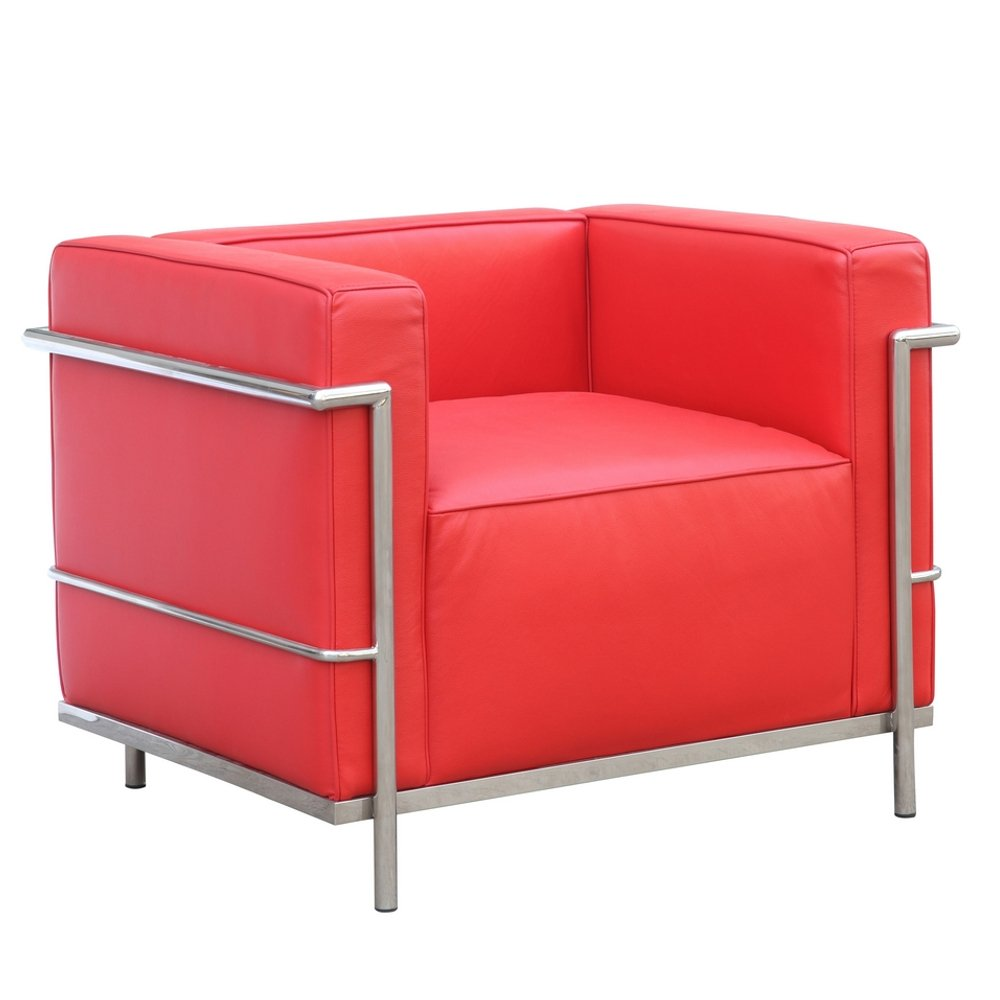 Fine Mod Imports FMI2202-red Grand Lc3 Chair, Red