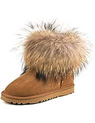 AUSLAND Womens Short Sheepskin Fur Snow Boot 98751