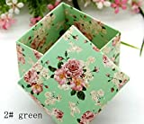 Gold Happy candy box bag chocolate paper gift box flower green purple for Birthday Wedding Party Decoration craft DIY favor baby shower Wh