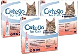 Catego 3 Pack of Flea and Tick Control for Cats Over 1.5 Pounds - 3 Doses Per Pack