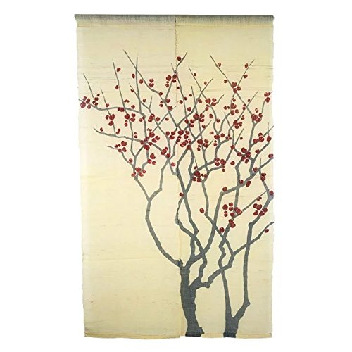 Japanese Noren Door Curtain Wall Hanging Tapestry - Red