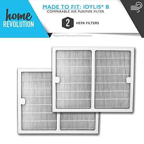 Idylis Part # IAF-H-100B for Idylis IAP-10-125 and IAP-10-150 Models, Comparable B HEPA Air Purifier Filter. A Home Revolution Brand Quality Aftermarket Replacement 2PK