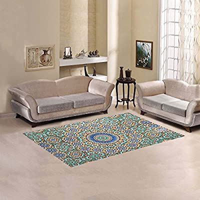 your-fantasia Sweet Home Modern Stores Area Rug Carpet Cover Home Decoration Moroccan Tile Background