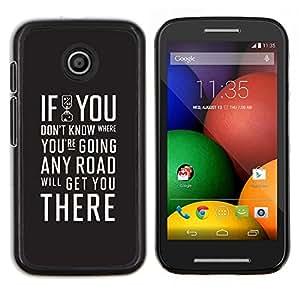 Caucho caso de Shell duro de la cubierta de accesorios de protección BY RAYDREAMMM - Motorola Moto E - SI USTED NO SABE TIPOGRAFÍA