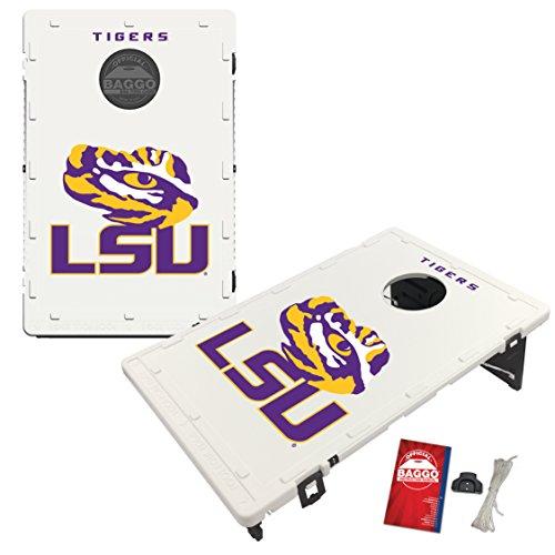 Victory Tailgate LSU Louisiana State Tigers Baggo Cornhole Boards Set, NCAA Classic (Includes Matching Bags!) (Set Tailgate Tigers)