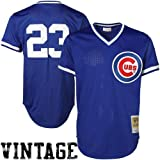 Ryne Sandberg Blue Chicago Cubs Authentic Mesh Batting Practice Jersey