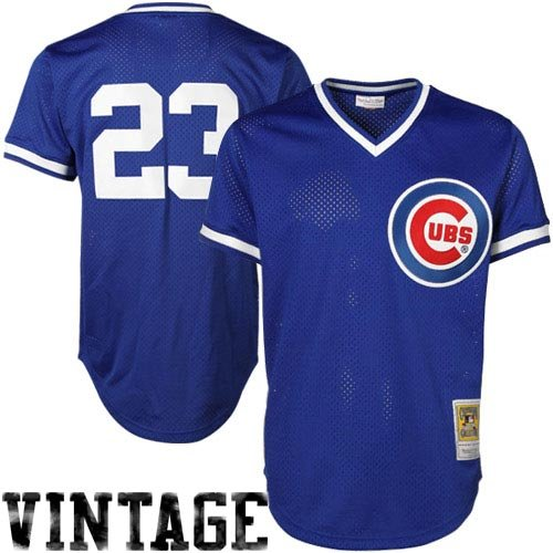 Mitchell & Ness Ryne Sandberg Blue Chicago Cubs Authentic Mesh Batting Practice Jersey XXL (52)