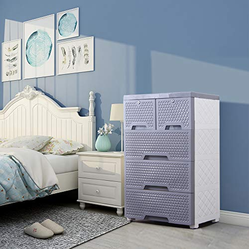 Movable Storage Cabinet,Multipurpose Furniture Organizer,Nafenai Home Bedroom Office 4-layers Storage Cart with 2 Cabinets ,Durable and Environmental-friendly by Nafenai (Image #3)