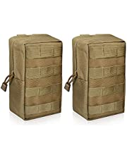 WYNEX 2 Pack Molle Pouches, Tactical EDC Utility Pouch Compact Water-Resistant, Organize Small Gear Gadget for Military Backpack
