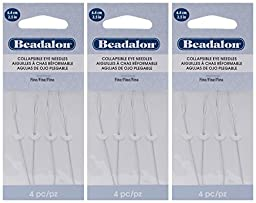 3-PACK - Beadalon Collapsible Eye Needles 2.5-Inch Fine 4 Pack