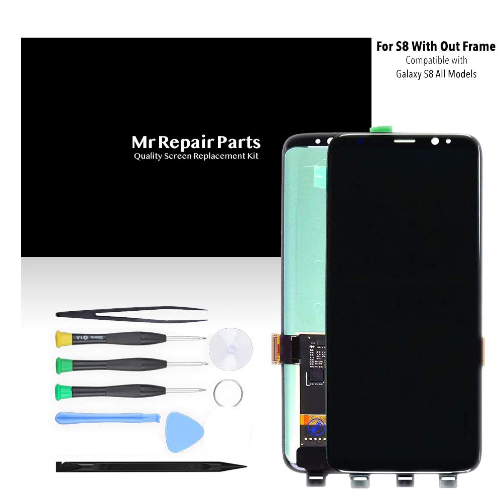 LCD Display Digitizer Touch Screen Assembly for Samsung Galaxy S8 Black G950A G950T G950V G950P SM9500 G950N G950F G950U by Mr Repair Parts by Mr Repair Parts (Image #1)