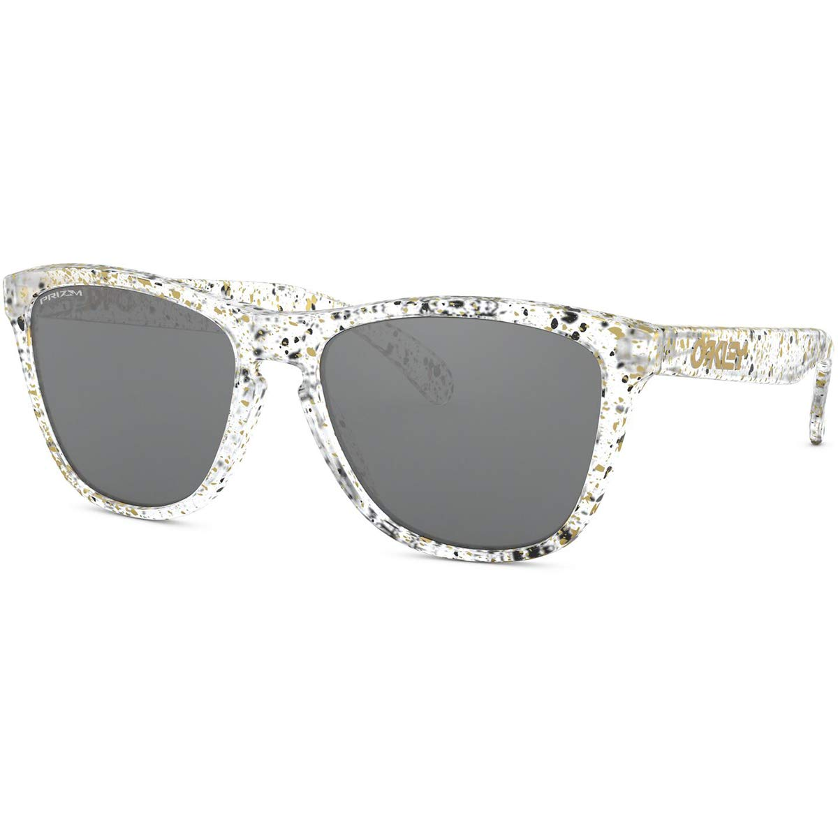Oakley Men's Frogskins Sunglasses,OS,Splatter Clear/Prizm Black