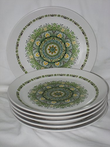 Set Of 6 - Vintage Noritake Progression China Palos 8 1/4 Inch Luncheon Plates 9020