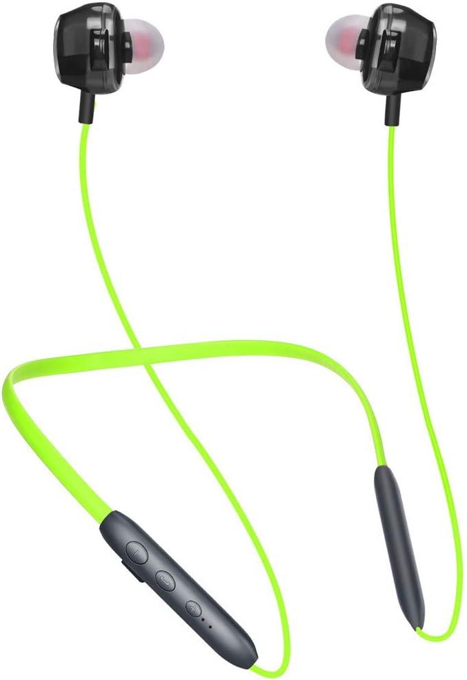 Spielzeit//IPX7 Wasserschutzklasse//eingebautem Mikrofon Federleicht Headset f/ür iPhone Huawei HTC uws. Samsung Sport Headphones mit 16 Std Qomomont Bluetooth Kopfh/örer In-Ear