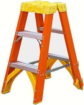 Extensibles Escalera de 3/4 escalones disponibles Aislamiento Bisagra Clasificación de servicio de 300 libras FRP Plataforma Escalera naranja (Size : 3 step ladder): Amazon.es: Bricolaje y herramientas