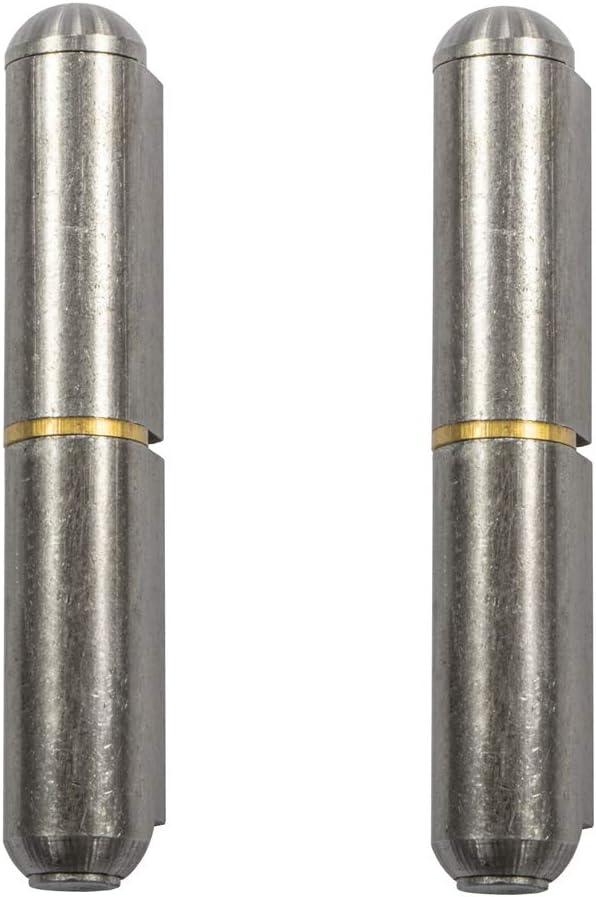 Bisagra de puerta de acero alpene para soldar, 2 piezas, con pasador extensible, altura: 40 mm, fabricada en Alemania, bisagra de acero para soldar, 2 unidades, capacidad de carga 50 kg