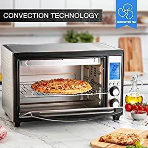 Baulia TO089 12 Digital Toaster 33 Liter Compact Countertop Oven Stainless Steel Even