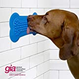 Perfect Curve Lick Lick Pad/Dog Washing Distraction Device/Your Dogs Bath Buddy/Grooming Helper/Super Suction/Just Add Peanut Butter, Large, Single-Pack, Blue